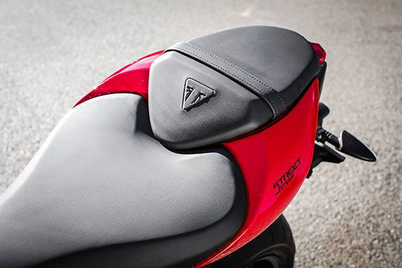 The new Street Triple S has the lower seat height at 810mm