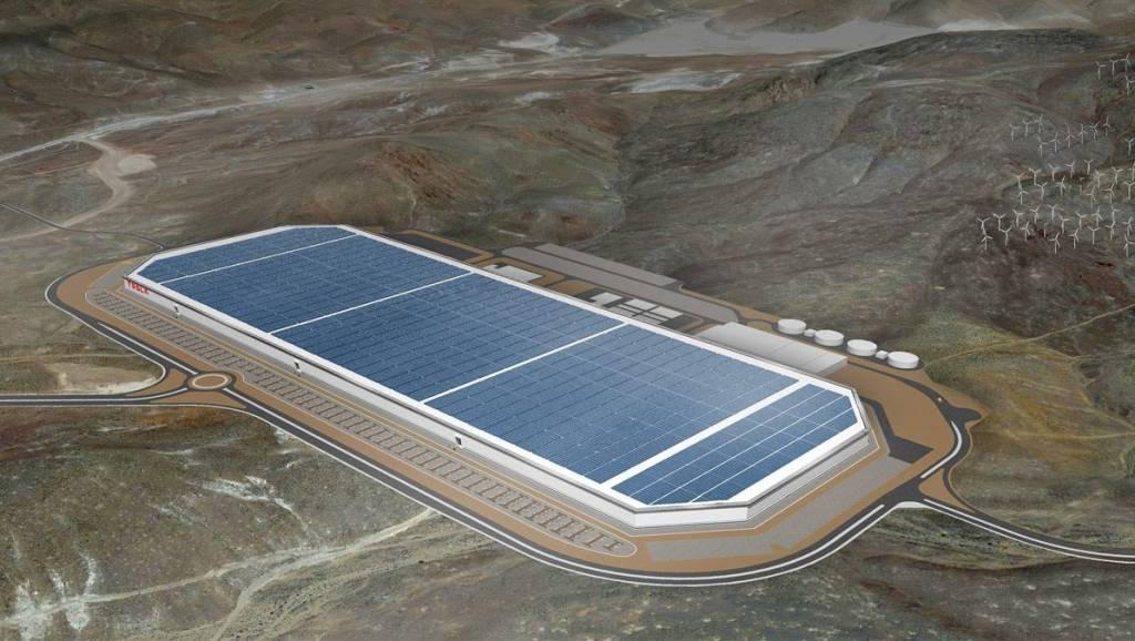 Tesla Gigafactory model