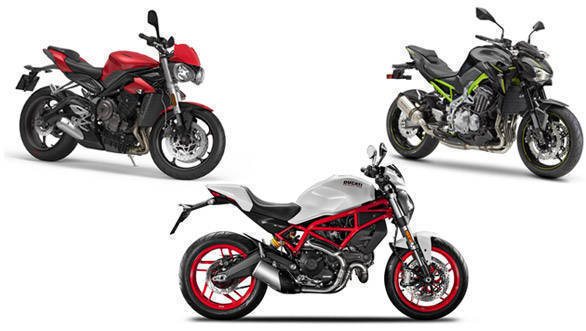 Spec Comparison: 2017 Triumph Street Triple vs 2017 Kawasaki Z900 vs 2017 Ducati Monster 797