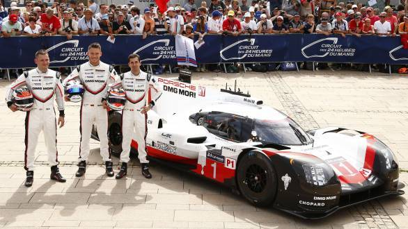 Nicky Tandy, Andre Lotterer and Neel Jani pilot the No.1 Porsche 919 Hybrid