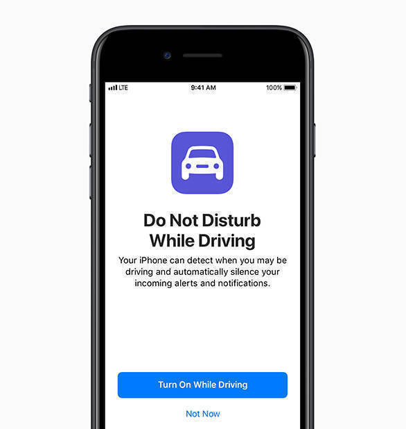 The Do Not Disturb While Driving can be enabled and it will detect using Bluetooth and Wi-Fi if the car is moving and silence all incoming notifications until the car stops. The new feature is part of the CarPlay in the new Apple iOS 11
