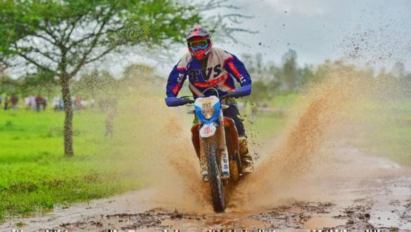 R Nataraj continues to lead the Ultimate Bikes class of the event after four legs have been completed