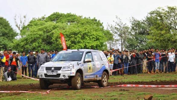 Suresh Rana and Ashwin Naik lead the rally after the fourth leg