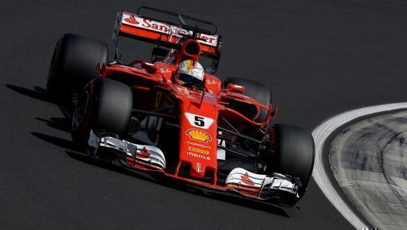 Ferrari's Sebastian Vettel took first place at the 2017 Hungarian GP