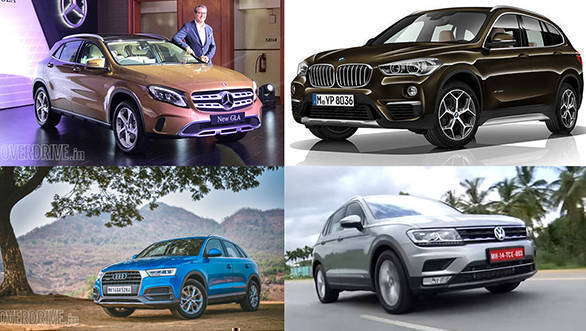 Spec comparison: 2017 Mercedes-Benz GLA vs BMW X1 vs Audi Q3 vs Volkswagen Tiguan
