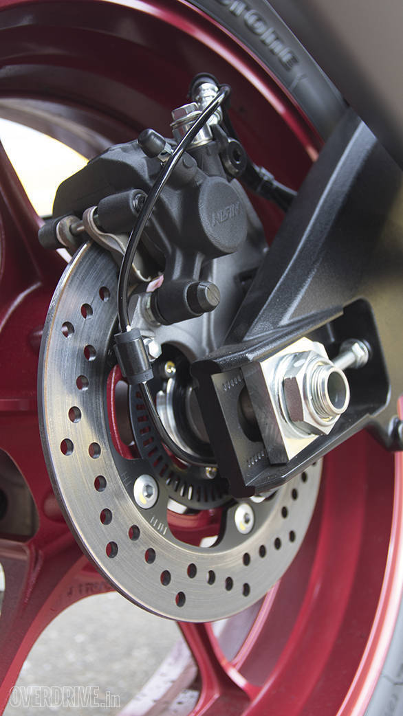 2017 Suzuki GSX-R1000A rear brake detail
