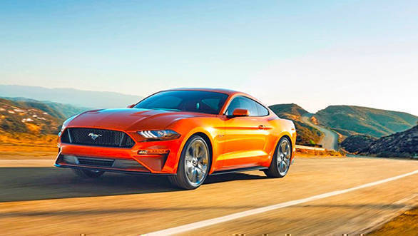 2018 Ford Mustang GT can reach 100kmph in almost 4 seconds