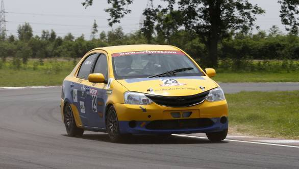 AS Prabhu, winner of Indian Junior Touring Cars race (July 22)