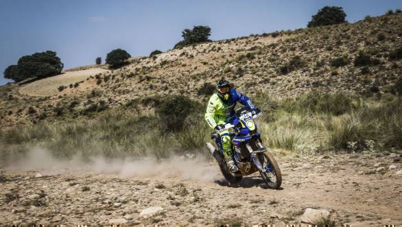 Aravind KP finished the rally 13th in the Group 1 Moto class