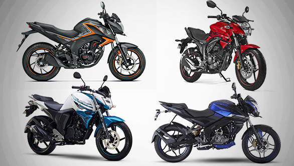 Spec comparison: Bajaj Pulsar 160NS vs Yamaha FZ16 vs Suzuki Gixxer vs Honda Hornet