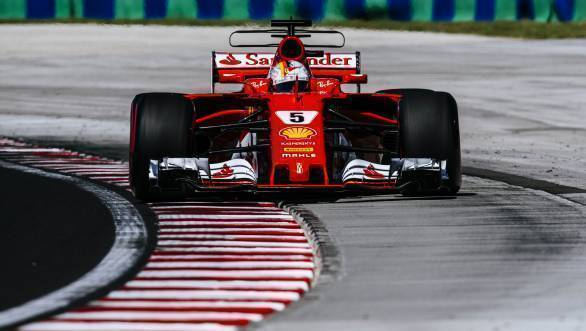 Championship leader Sebastian Vettel took pole position at the 2017 Hungarian Grand Prix