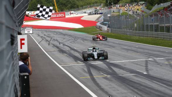 Valtteri Bottas crossed the chequered flag first at the 2017 Austrian GP, with Sebastian Vettel just behind him in second place.