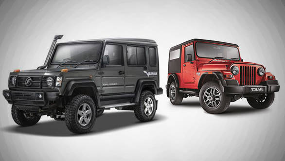 Spec comparison: Force Gurkha Xplorer vs Mahindra Thar