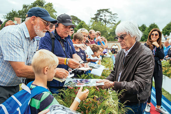 Bernie Ecclestone was honoured at the 2017 Goodwood FOS