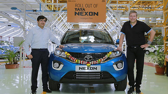 2017 Tata Nexon rolls out from Ranjangaon facility