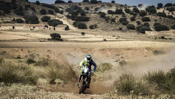 TVS Racing's Joan Pedrero on his way to third place at the 2017 Baja Aragon