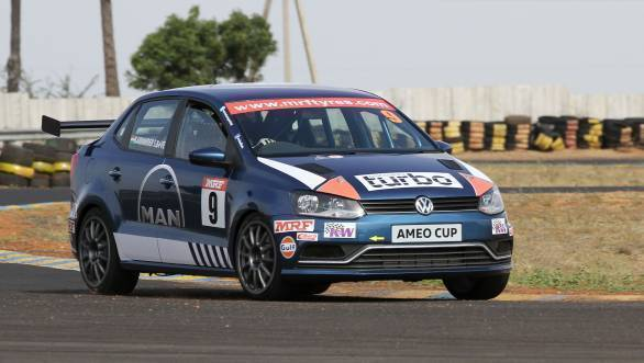 Karminder Singh took pole for Race 1 of the 2017 Volkswagen Ameo Cup