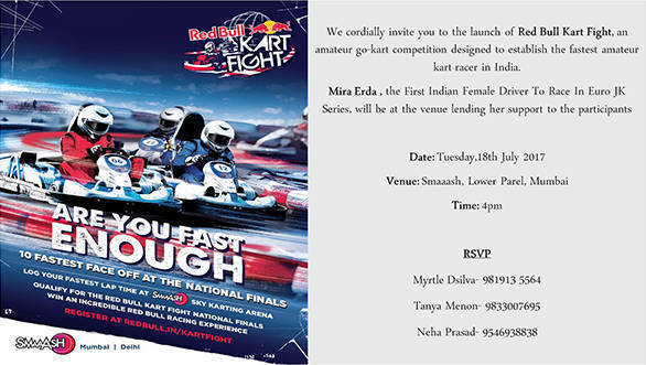 Media Invite - Red Bull Kart Fight Launch