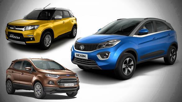 Spec comparo: 2017 Tata Nexon diesel vs Ford EcoSport diesel vs Maruti Suzuki Vitara Brezza diesel