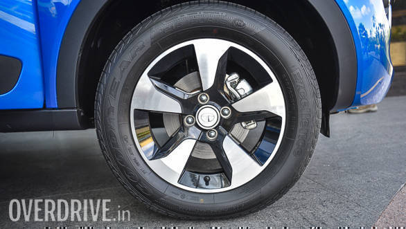 16-inch wheel are standard across the Nexon range while the top-spec XZ+ gets diamond-cut alloys