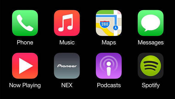 Tata Motors says that the Nexon's system will have Apple CarPlay at a later stage
