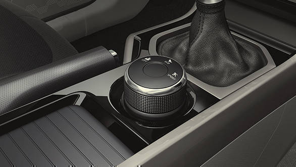 The rotary drive helps select the different driving modes