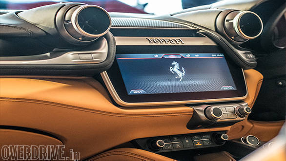 2017 Ferrari GTC4Lusso: The large touchscreen infotainment system is compatible with CarPlay and AndroidAuto