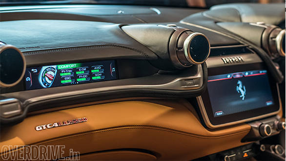2017 Ferrari GTC4Lusso: The digital screen on the dash in front of the passenger is all-new