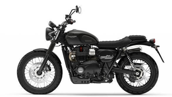 The blackened out theme on the design gives the 2017 Triumph Street Scrambler a rugged appeal