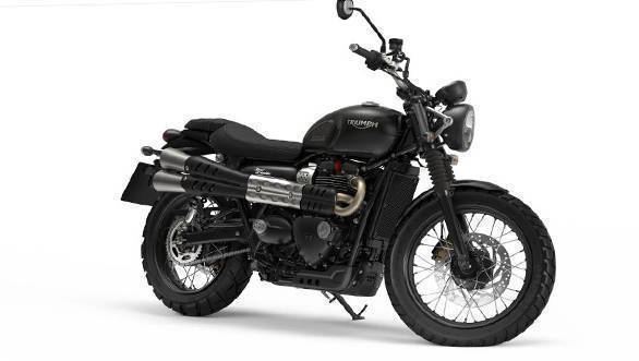 The 2017 Triumph Street Scrambler comes with a new steel exhaust unit that sits higher up and parallel to the seat