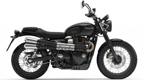 The twin exhaust pipes produce a more distinct note compared to the Street Twin, states Triumph