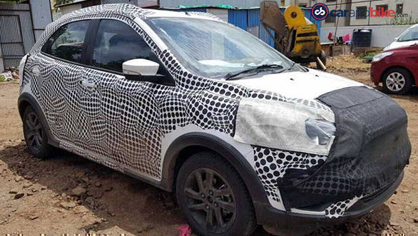 Ford Figo crossover spied being tested in India
