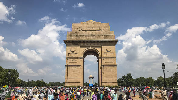 The grandeur of the India Gate can only be witnessed by facing it in person