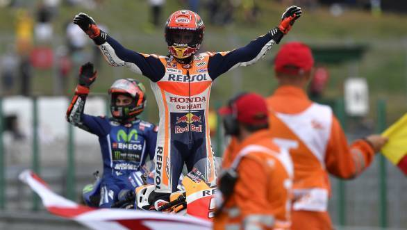 Marc Marquez extended his lead in the 2017 MotoGP championship standings, after victory at Brno