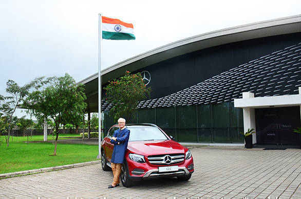 Mr. Roland Folger MD & CEO Mercedes-Benz India with Mercedes_Benz GLC 'Celebration Edition' 2