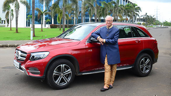 Mr. Roland Folger MD & CEO Mercedes-Benz India with Mercedes_Benz GLC 'Celebration Edition'