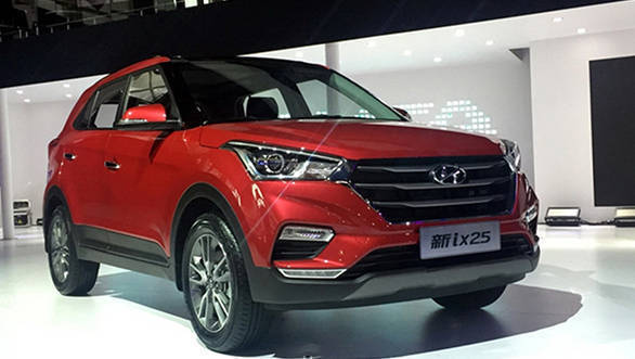 2017 Hyundai Creta facelift showcased at Chengdu Auto Show, China