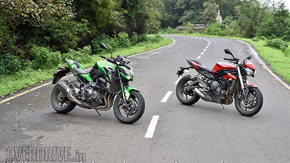 Comparison 2017 Kawasaki Z900 Vs 2017 Triumph Street Triple S