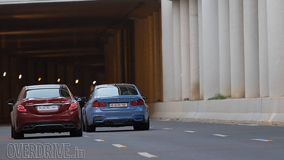 mercedes c63 vs bmw m3 100