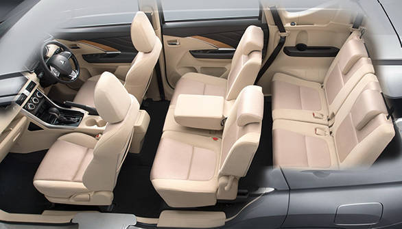 The second row of seats can be flipped forward to liberate more space for carrying cargo