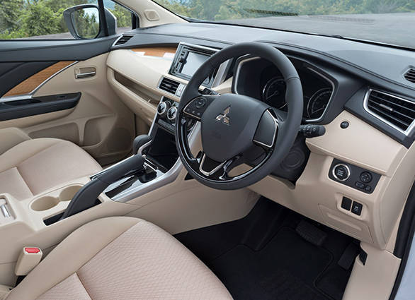 A mix of beige and grey adorns the cabin of the Xpander. There are the usual goodies that you expect from a  MPV of this size and proportions - automatic climate control, 3-row ventilation, push-button start, lots of cubby holes and electric seat adjustment for the driver