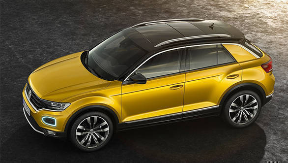 The strong shoulder line complimented by the flared wheel arches give the T-Roc an imposing stance