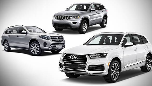 Spec comparison: 2017 Audi Q7 40 TFSI vs Jeep Grand Cherokee Summit vs Mercedes-Benz GLS 400