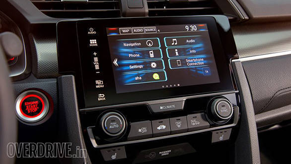 The new Honda Civic infotainement system