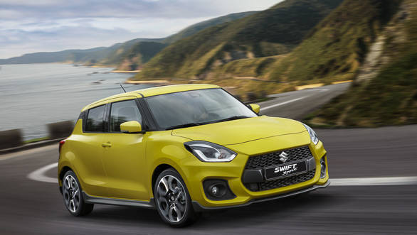 The Suzuki Swift Sport will be offered in seven colours but this yellow shade isn't shared with the other regular Swifts
