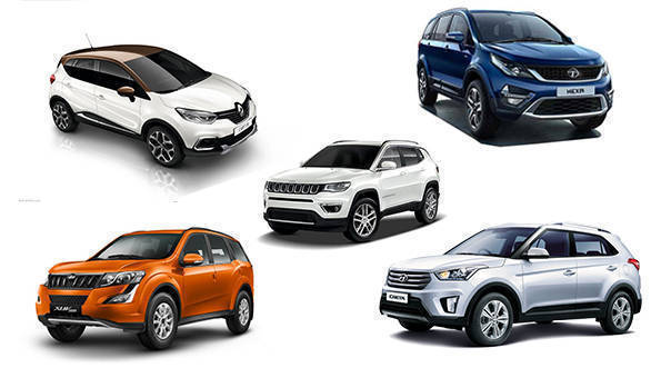 Spec comparison: Renault Captur vs Mahindra XUV500 vs Hyundai Creta vs Jeep Compass vs Tata Hexa
