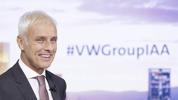 Matthias Müller, chief Volkswagen Group