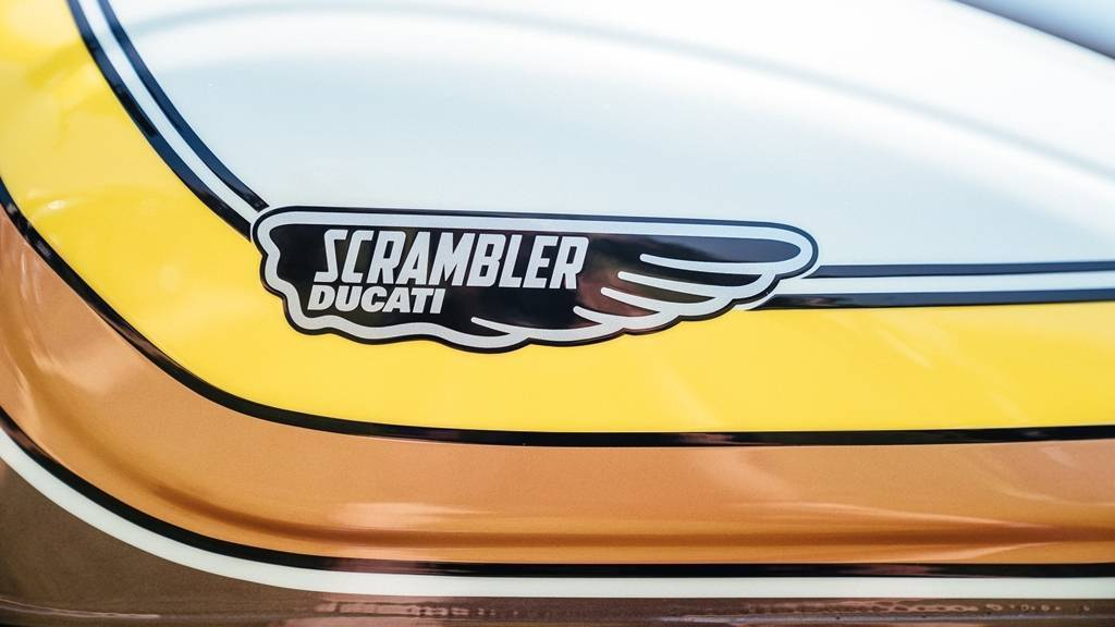 Ducati Scrambler Mach 2.0 badge detail