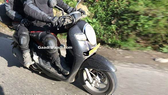 Honda Scoopy scooter spotted testing in India