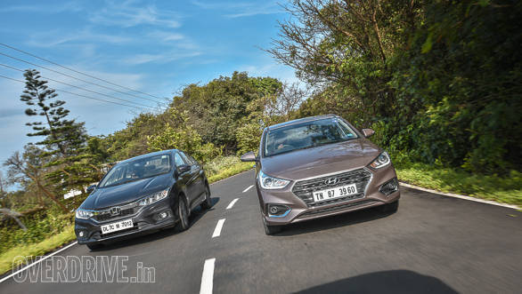 Comparison: 2017 Hyundai Verna petrol AT vs Honda City petrol CVT
